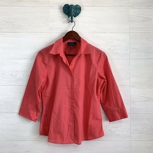 Foxcroft Coral Wrinkle Free Shaped Blouse